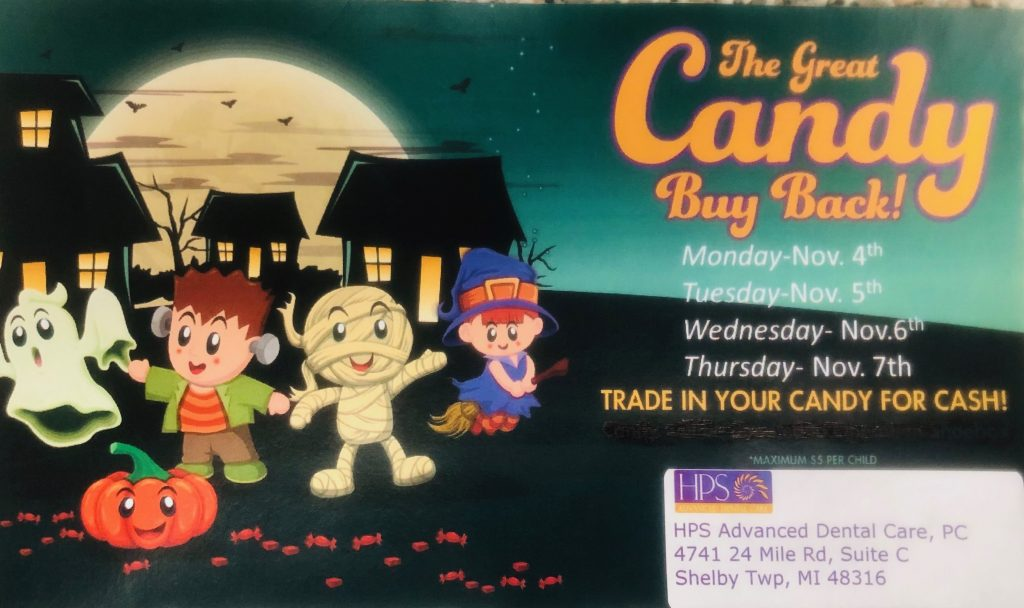Candy Buy Back at HPS Dental in Shelby Twp., MI